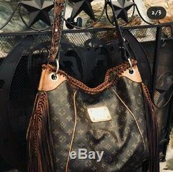 Boho Vintage Fringe Louis Vuitton Authentic Galleria shoulder bag