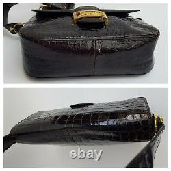 CELINE Bag. Céline Vintage Brown Leather Box Horse Carriage bag Bag. French desi