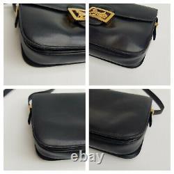 CELINE Bag. Céline Vintage Navy Blue Leather Box Horse Carriage bag BagCELINE Ba