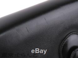 CELINE Gold Horse Carriage Shoulder Bag Black Carf Leather Vintage Used Ex++