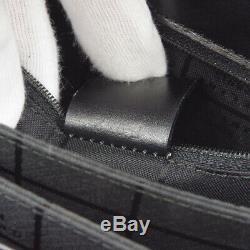 CELINE Horse Carriage Logos Hand Bag F97/2 Black Leather Vintage R11783
