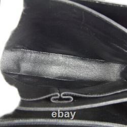 CELINE Horse Carriage Shoulder Bag F/06 Purse Black Leather Vintage RK14638