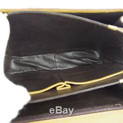 CELINE Horse Carriage Shoulder Bag Purse Brown Leather Vintage Italy NR14677