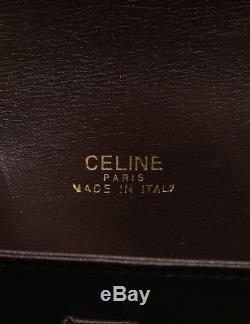CELINE Old Celine shoulder bag leather horse-drawn carriage bracket vintage