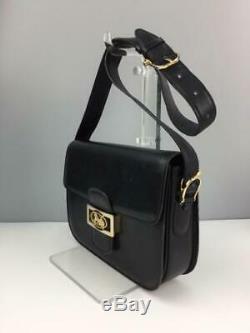 CELINE Old Vintage Horse Drawn Carriage Bracket Feeling Leather bag Japan