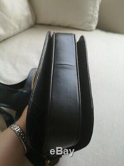 CELINE VINTAGE Black Horse Carriage LEATHER SHOULDER BAG