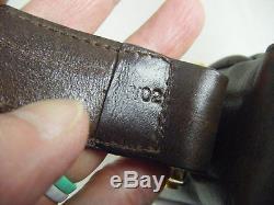 CELINE Vintage Brown Leather Gold Horse-bit Shoulder Bag, RARE