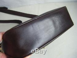 CELINE Vintage Brown Leather Gold Horse-bit Shoulder Bag, RARE
