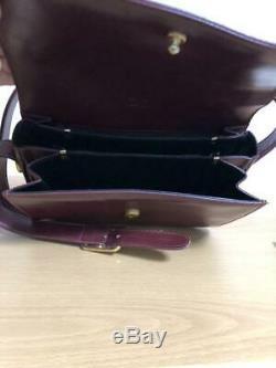 CELINE vintage horse-drawn carriage bracket leather shoulder bag P2954