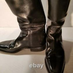 Cavallo men's vintage equestrian black leather tall riding boots size US 9 1/2 D