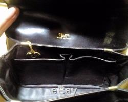 Celine Horse Carriage Brown Leather Bag Vintage Authentic
