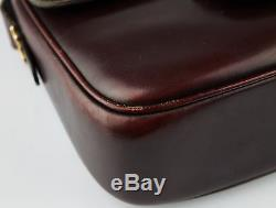 Celine box bag Shoulder cross body Vintage red leather Horse Borsa a Tracolla