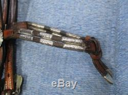 Champion Turf Sterling Silver Vintage Western Show Horse Headstall