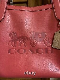 Coach Horse And Carriage Tote Bag Poppy/Vintage Mauve C4063 $378