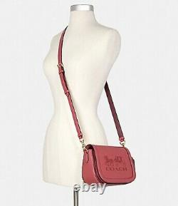 Coach Saddle Bag With Horse And Carriage- Gold/Poppy/Vintage Mauve, SOLD OUT