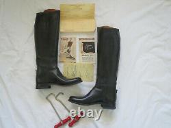 Dehner Custom Tall Horse Riding Dressage Boots Size 10 Womens + vintage papers