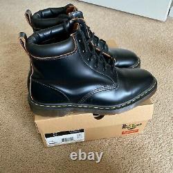 Dr Doc Martens SUPREME Vintage Smooth Black Leather 11 RARE 6 Eye