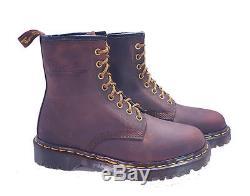 Dr. Martens Doc 1460 Boots England Rare Vintage Aztec Crazy Horse UK 4 US 6
