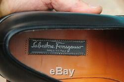 FERRAGAMO Lavorazione Tramezza Man's Black Horse bit Leather Loafers SzUS11.5 D