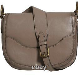 Frye Satchel Medium Vintage Leather Lucy Saddle Handbag (Grey)