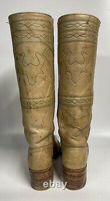Frye Vintage Campus Stitching Horse Boots 7 1/2 B Black Label Made in USA