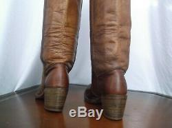Frye Vtg USA Western Couture Boots Wo Sz 9 B horse riding Knee High Campus