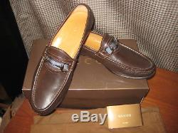 GUCCI CLASSIC Vintage Horse Bit LOAFERS Brown Leather Sz 9.5 D Beautiful