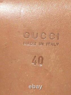 GUCCI SHOES ANKLE STRAPS HORSE BIT Vintage 1970's ITALIAN SIZE 40 USA SIZE 9