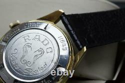 Genuine Vintage Rado Green Horse King Size Gents Wristwatch 37mm