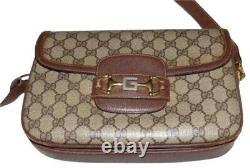 Gucci 1955 Horse-bit brown Guccissima print leather vintage shoulder bag