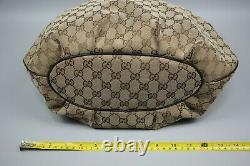 Gucci GG Vintage Brown/Biege Horse Bit Monogram Canvas & leather hobo bag Size L