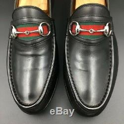 Gucci Horse Bit, Vintage Web, Black Elegant Leather Loafers, Mint Condition