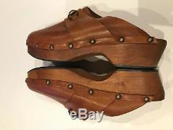 Gucci Men's Vintage Clogs Light Brown/Tan Leather Horse-bit Size 10 SUPER RARE