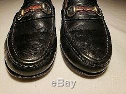 Gucci Mens VTG Horse Bit Loafer 7.5D Slip On Shoe Black Leather Good Condition