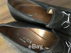 Gucci Mens Vintage Horse Bit Brown Suede Leather Loafers / Shoes / Men Sz 14 Med