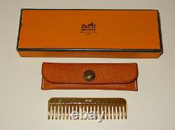 HERMES VINTAGE HORSE MANE COMB with LEATHER CASE NEW IN BOX! EQUESTRIAN EQUINE