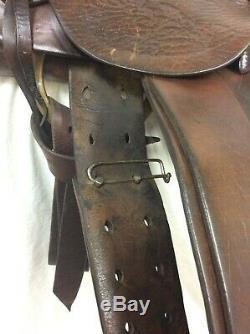 Harpham Used Collector/Vintage 13 Hard Seat, RARE WESTERN HORSE Saddle