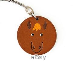 Hermes Charm Vintage Barenia Horse Key Chain SO charming