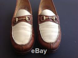 High End Pair of Gucci Two Tone Horse Bit Loafers, Gucci Size 43 D