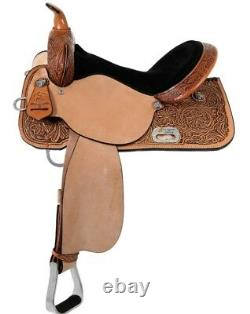 High Horse by Circle Y 14 Mansfield Barrel Saddle Wide Tree Tooled 6221-2406-05