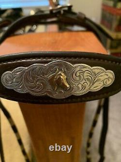 Horse bridle western leather headstall vintage great condition