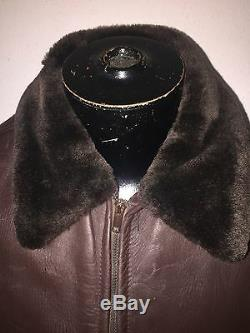 Horse hide Vintage 1950's-60's shearling horse hide leather jacket med-large
