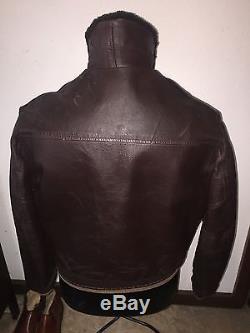 Horse hide Vintage 1950's-60's shearling horse hide leather jacket med-large