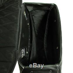 Indian Motorcycle New OEM Black Leather Vintage Saddlebags, Dark Horse, N5240007