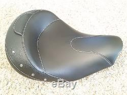 Indian Motorcycles Solo Seat Black Leather Studded Dark Horse Vintage Touring