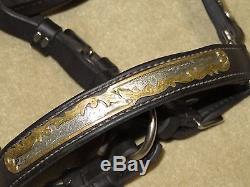 L@@KTop Quality VINTAGE Western STERLING SILVER & BRONZE Horse Size Show Halter