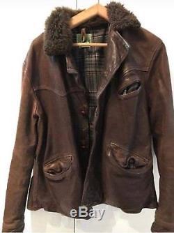 LEVIS VINTAGE CLOTHING LVC LEATHER JACKET SIZE M Horse Hide VERY RARE