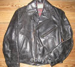 LVC Levi's Vintage Aero Horsehide Leather Clothing Bird of Prey Biker Jacket XS