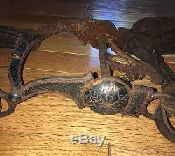 Leather Horse Bridle Reins Silver Buttons Sentinel Butte Saddlery Co. Vintage