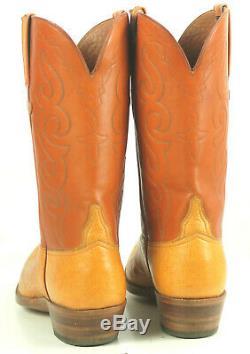 Lucchese San Antonio Vintage 1989 Ostrich Cowboy Boots Original Box Men's 11.5 B
